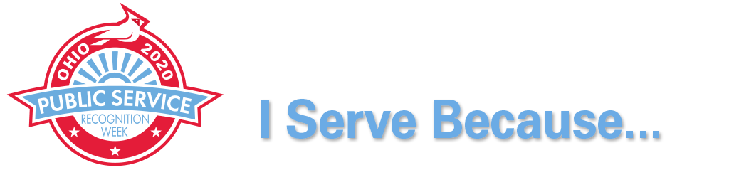 Ohio 2020 Public Service Recognition Week Logo # I Serve Because