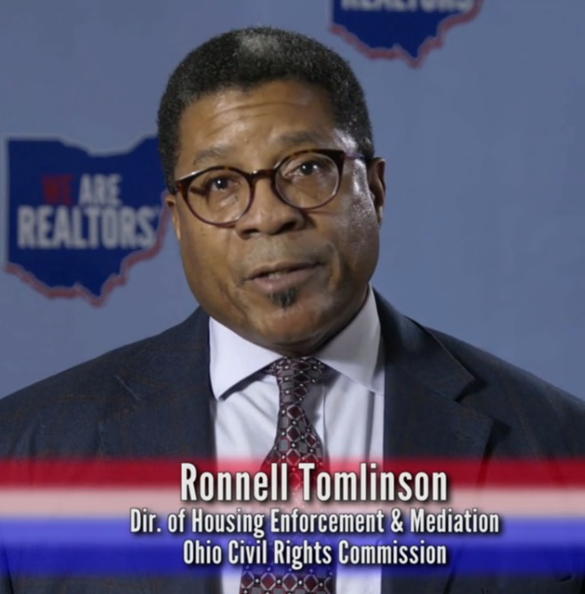 Photo of Ronnell Tomlinson in Ohio Realtors video