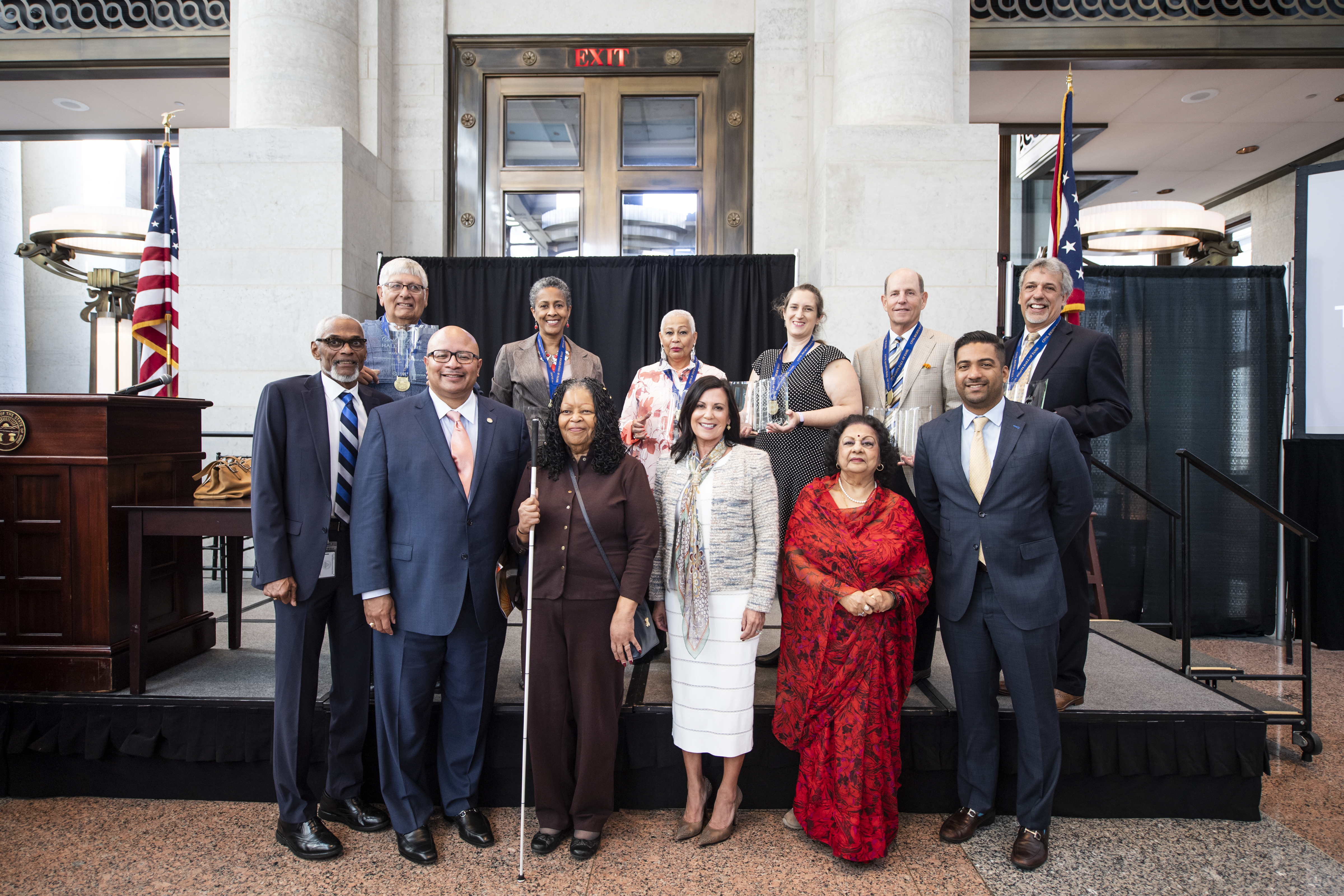 photo of Commissioners and the 2019 inductees of the Ohio Civil Rights Hall of Fame